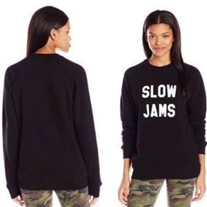 urban outfitters Riot Slow jams black sweatshirt